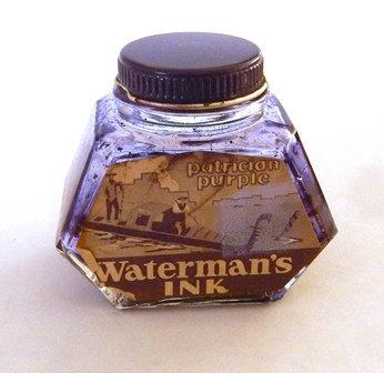 Waterman's Patrician Purple Ink Bottle