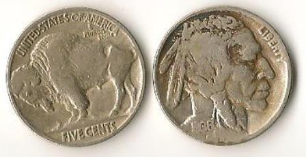 """1936 INDIAN HEAD """"BUFFALO"""" NICKELS (2)"""