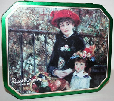 Russell Stover Candies Tin 1997 Two Sisters