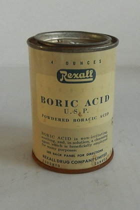 Rexall Boric Acid Tin((ASK))))
