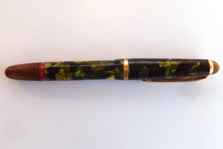 "Rotring ""Tiku"" Fountain Pen - Marbled Green (Rare)"
