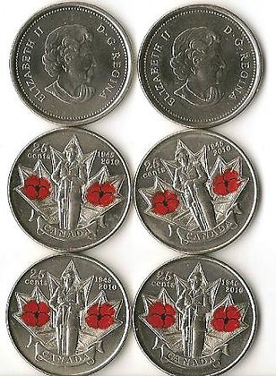 Canada Quarter 2010  Remembrance Day