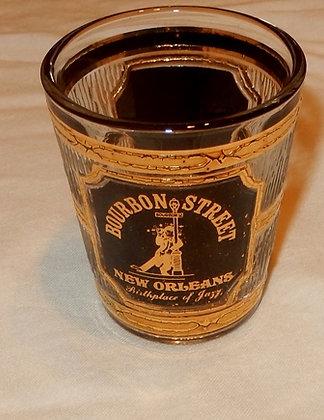 Vintage Gold Shot Glass Bourbon Street
