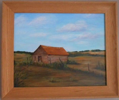 Old Farmhouse Painting