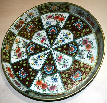Vtg 1971 Daher Decorated Ware Tin Tray