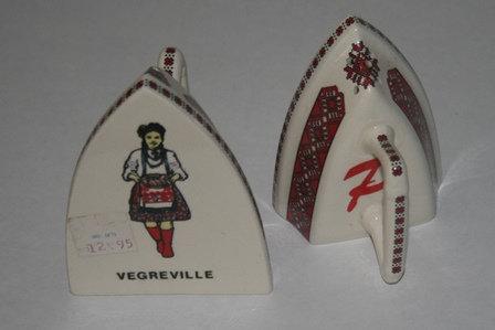 Vintage Ukrainian Salt & Pepper Shakers