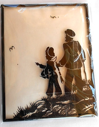 Silhouette Curved Glass Picture