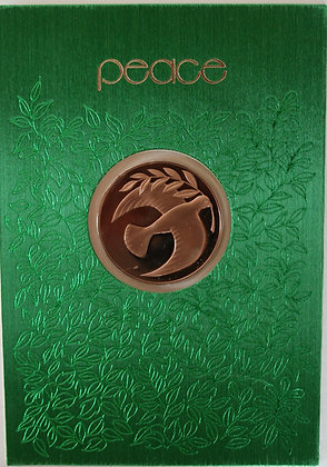 Franklin Mint Christmas Cards With Bronze Coins
