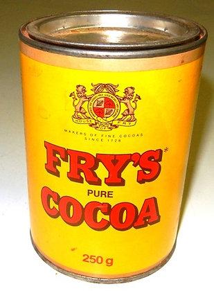 1960's Fry's Cocoa Empty Display Box