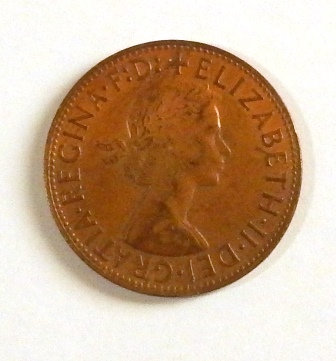 1963 Australian Penny Coin (Copper)