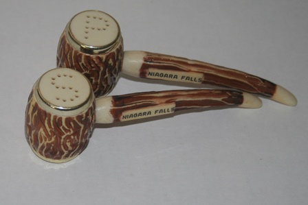 Pipe Salt and Pepper Shakers