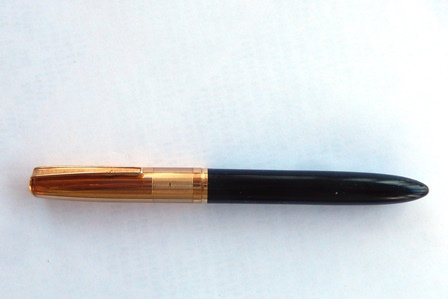 Vintage Bankers Pen with Gold Plated Cap