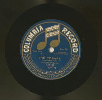 Columbia #A316 The Rosary 78 Record