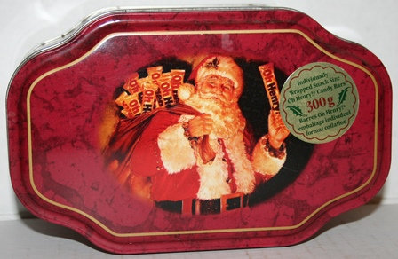 Vintage Oh Henry Snack Bars Xmas Santa Tin