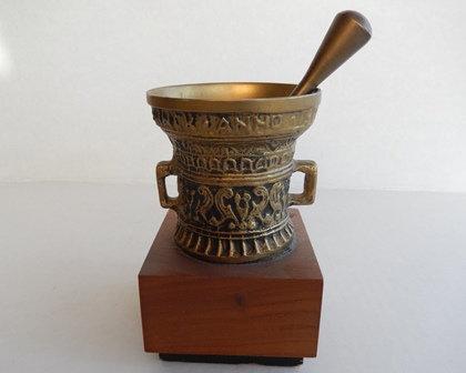 Brass Mortar & Pestle Pharmacist Trophy