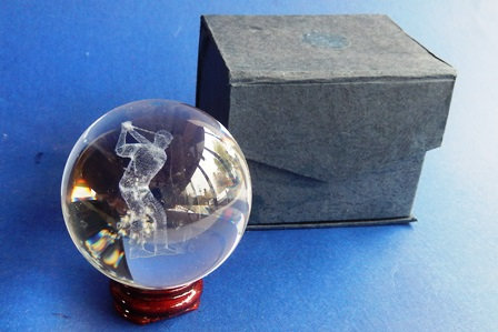 Glass Sphere with Golfer