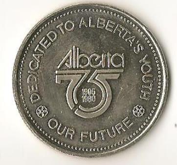 Alberta 75th Anniversary 1980 Dollar Coin