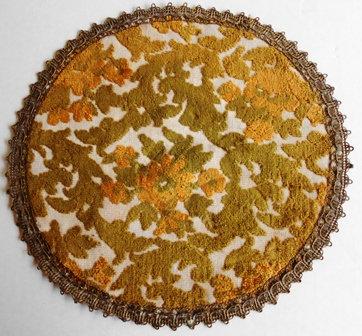 "Vintage 11"" Belgium Tapestry Doily"