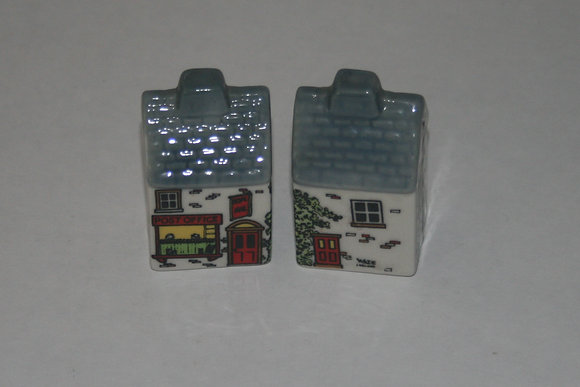 Vintage Salt and Pepper Shakers, Lil Houses