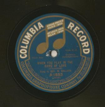 78 RPM Original Vintage COLUMBIA A1553