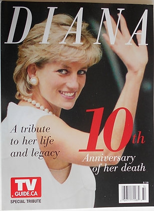 Princess Diana 10th ANNIVERSARY CANADA TV GUIDE