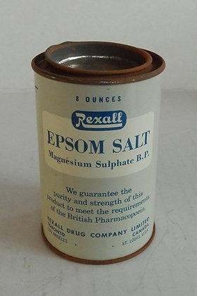 Vintage Tin Rexall Epsom Salt