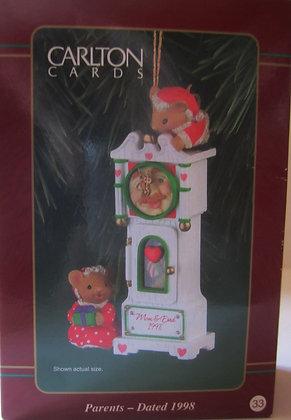 1998 Carlton Cards Christmas Ornament Parents