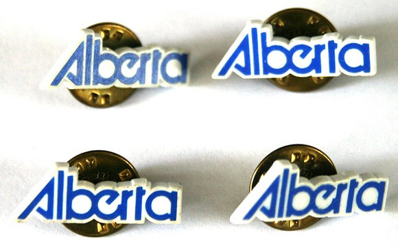 ALBERTA LOGO BLUE WHITE CLASSY LAPEL PIN