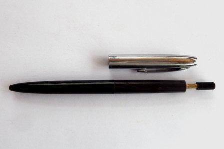Vintage Sheaffer Black & Chrome Ballpoint Pen