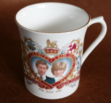 Diana and Charles Commemorate Marriage 1981 Cup