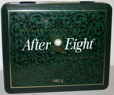 Vintage After Eight Chocolates Mints Tin
