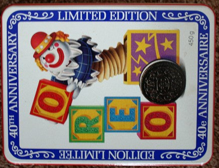 40th Anniversary Oreo Cookie Tin ~ Clown with Bloc