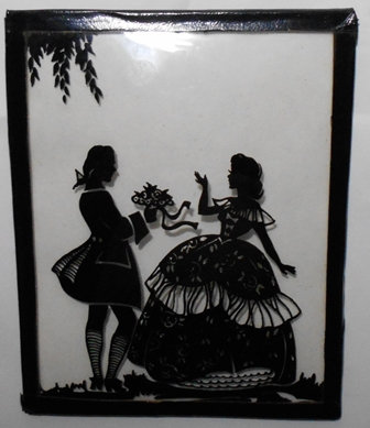 Vintage Silhouette Picture 4x5 inches