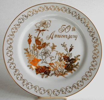 50th Anniversary Celebration Porcelain Plate