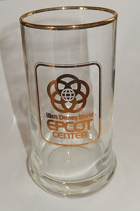 Epcot Center Gold Lettering  Beer Glass