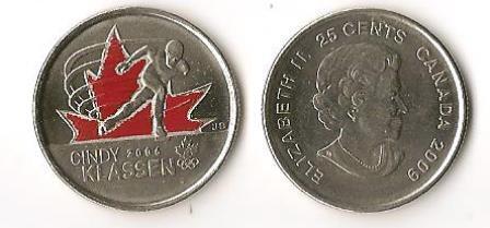 Canada 25 Cents 2006 Olympics