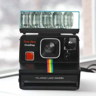 Polaroid Time Zero with flash