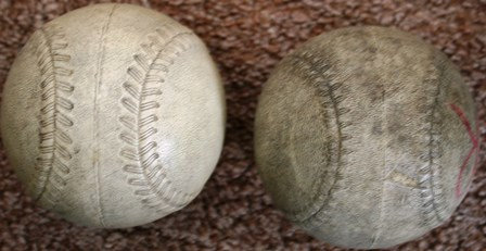 Vintage Synthetic Rubber Cover Cork Softballs
