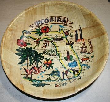 Antique Florida Wooden Tray