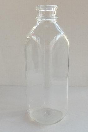 One Quart Glass Milk Bottle - Square Bottle