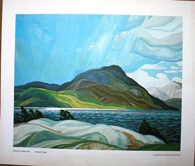 "Framed Franklin Carmichael print "" Summer Storm"""
