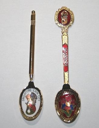 2 Singapore Souvenir Spoons