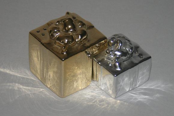 Salt & Pepper Shaker Gift Box Silver and Gold