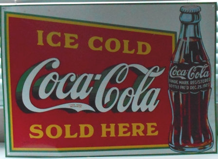 """Ice Cold Coca Cola Sold Here Tin Sign - 17"""" x 12"""""""