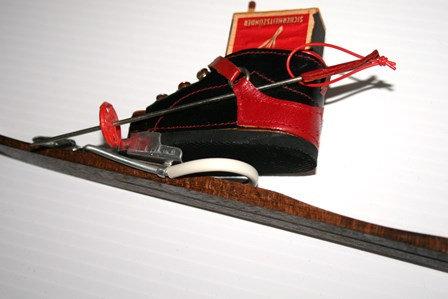 Vintage 1950 Wien Match  Holder Leather Ski