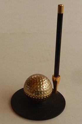 Brass Golf Ball Pen Holder