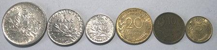 Vintage France 1950-1960's Coins