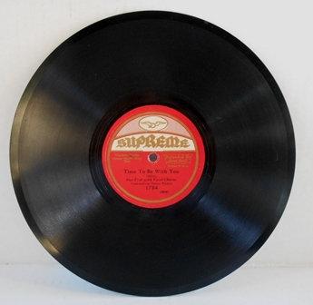 78 rpm Single 10-inch – Supreme #1784 Record