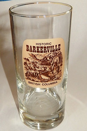 Glass Highball Tumbler Barkerville Souvenir Glass