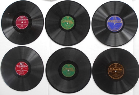 Set of 6 Columbia 78 Records Green